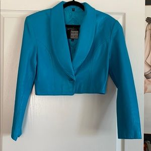 Vintage North Beach Leather cropped jacket sz 9/10